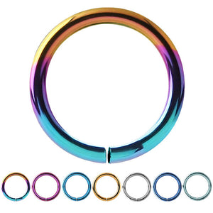 Titanium Continuous Twist Rings (Seamless Ring)