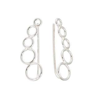 Sterling Silver Ear Vine - Circles