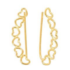 view all Gold Plated Sterling Silver Ear Vine - Hearts body jewellery