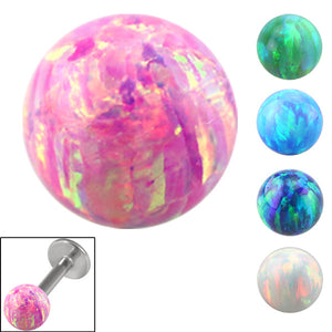 Synthetic Opal Threaded Balls 1.6mm