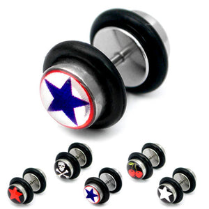 Steel Logo Fake Plugs