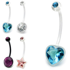 view all Pregnancy Belly Bars (PTFE and Bioflex) body jewellery