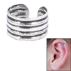 view all 925 Sterling Silver Clip On Ear Cuff - Stripes SEC6 body jewellery