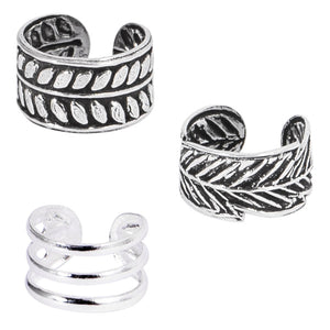 Multipacks - 925 Sterling Silver Ear Cuffs