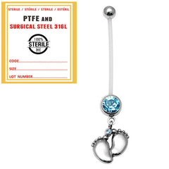 view all Sterile Pregnancy Belly Bars Baby Feet (PTFE) body jewellery