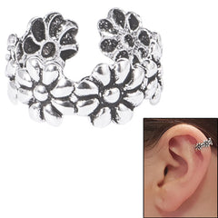view all 925 Sterling Silver Clip On Ear Cuff - Daisy Chain Flowers body jewellery
