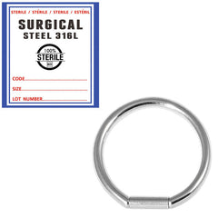 view all Sterile Steel Bar Closure Ring body jewellery