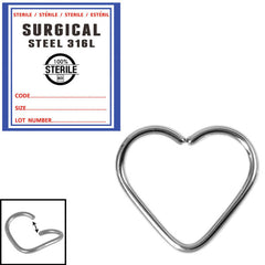 view all Sterile Steel Continuous Heart Twist Ring body jewellery