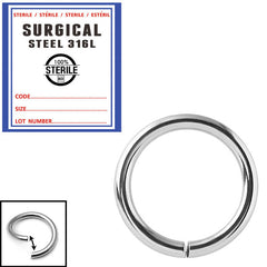view all Sterile Steel Continuous Twist Rings body jewellery