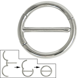 Steel Orion Hinged Nipple Clicker Ring