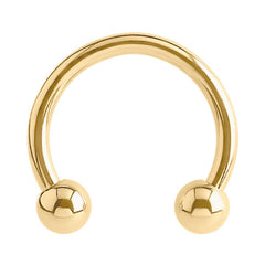 view all Zircon Titanium Circular Barbells (CBB) (Horseshoes) (Gold colour PVD) body jewellery