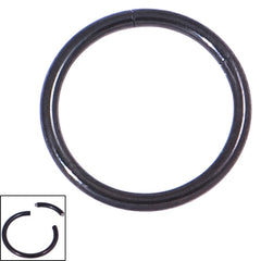 view all Black Steel Smooth Segment Rings body jewellery