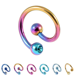 Titanium Double Jewelled Spirals 1.2mm (Coloured metal)