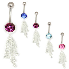 view all Belly Bar - Dangly Chain (TUCH07) body jewellery