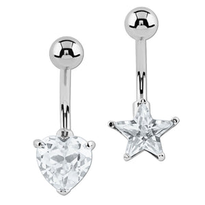 Belly Bar - Twinkle Heart and Star