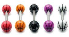 view all Acrylic Basketball Barbell body jewellery