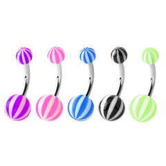 view all Acrylic Beach Belly Bars body jewellery