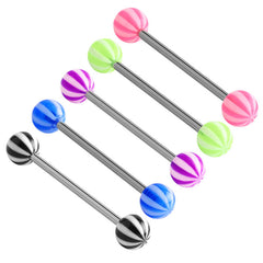 view all Acrylic Beach Barbell 1.6mm body jewellery