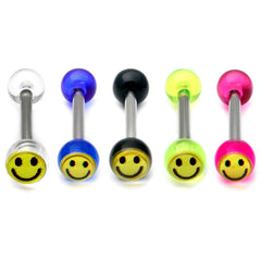 Acrylic Smiley Tongue Barbell