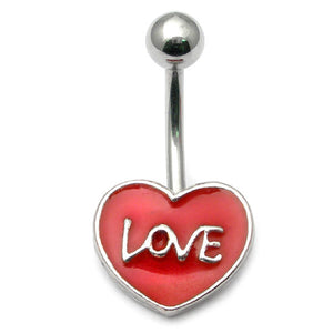Belly Bar - Love Heart
