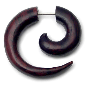 Organic Wood Fake Spiral Stretcher - Black Rosewood