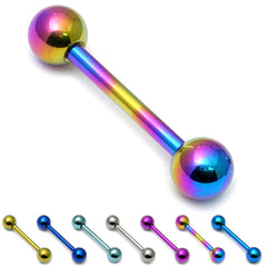 view all Titanium Barbell 1.6mm  6-16mm body jewellery
