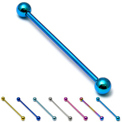 view all Titanium Industrial Scaffold Barbell 1.6mm 30-46mm body jewellery