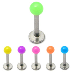 view all Acrylic Neon Labrets 1.2mm body jewellery