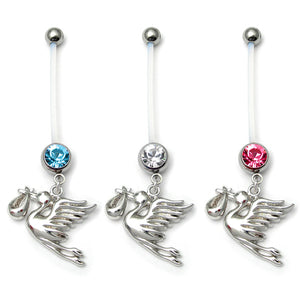 Pregnancy Belly Bars Stork (PTFE)