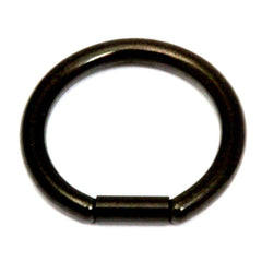 view all Black Steel Bar Closure Rings body jewellery