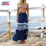 High Waist Ruffle Split Wrap Maxi Skirt
