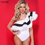 Ruffles Brazilian One Off Shoulder One Piece Suit