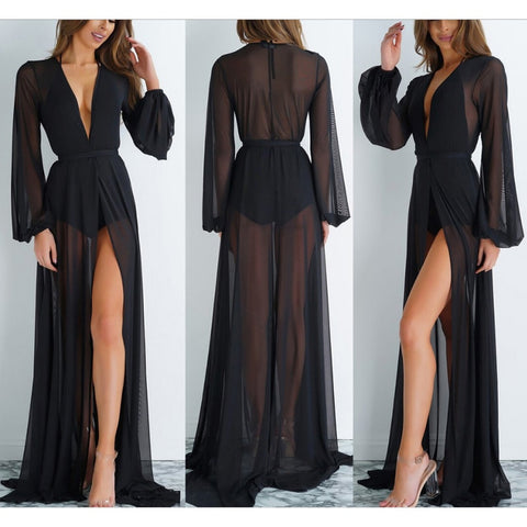 Sexy Mesh Floor Length Cover Ups
