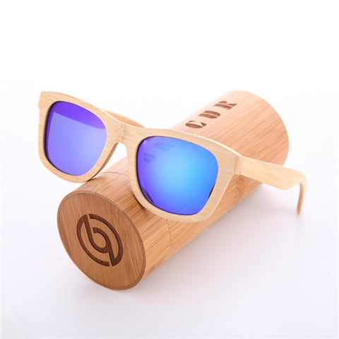 Retro Men Bamboo Sunglasses