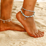 Starfish 2 Layer Ankle Bracelet