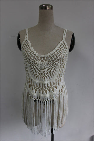 See-Through Loose Crochet Cover Up