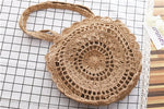 Knitted Bohemian Round Beach Bag