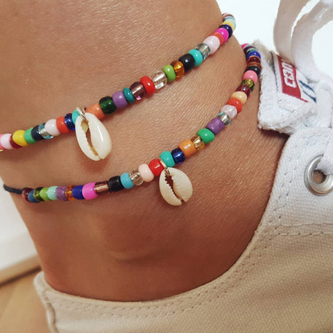 Bohemian Shell Charm Beads Anklets