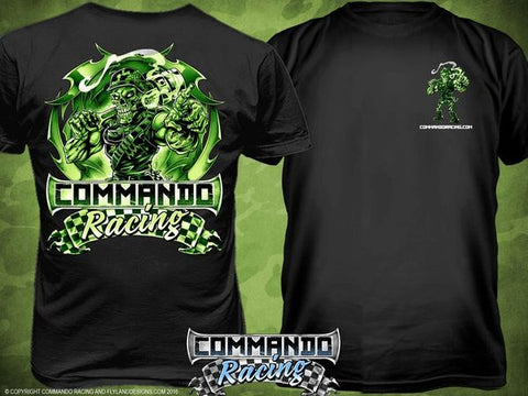 "COMMANDO RACING ""MONSTER GREEN"" T-SHIRT"