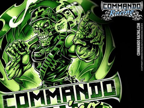 "COMMANDO RACING ""MONSTER GREEN"" LONG SLEEVE"