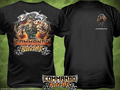 "COMMANDO RACING ""COLOR"" T-SHIRTBLACK"