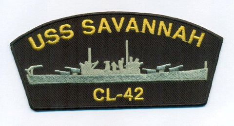 USS Savannah CL-42 Embroidery Patch