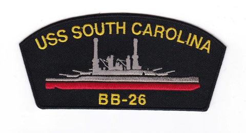 USS South Carolina BB-26 Embroidery Patch