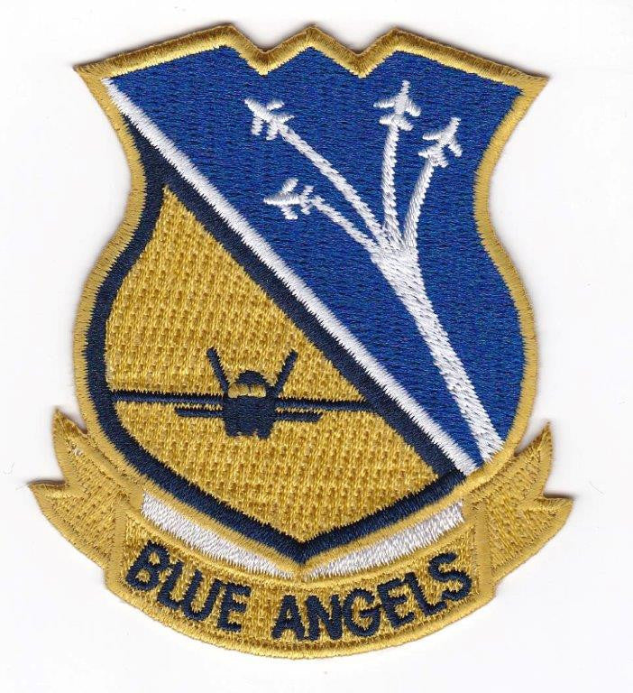 Blue Angle Embroidery Patch