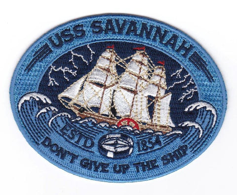 USS Savannah-1854 Embroidery Patch