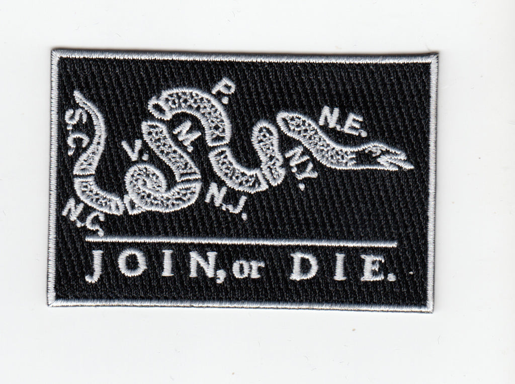 Join, or Die Flag  embroidery patch