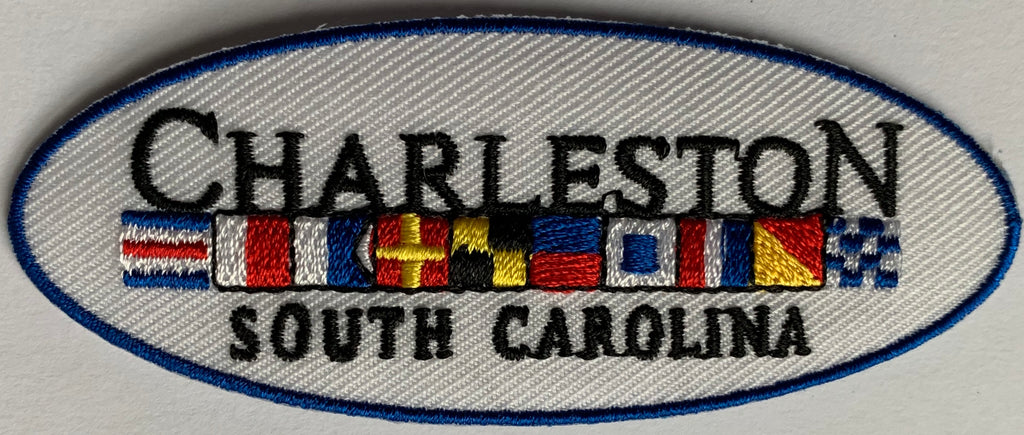 Nautical Flags-Charleston  Embroidery Patch
