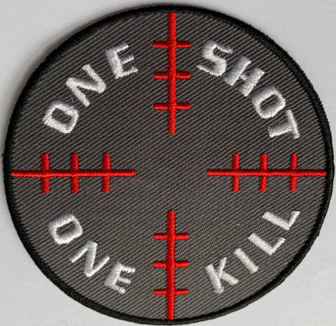 One Shot one Kill Embroidery Patch