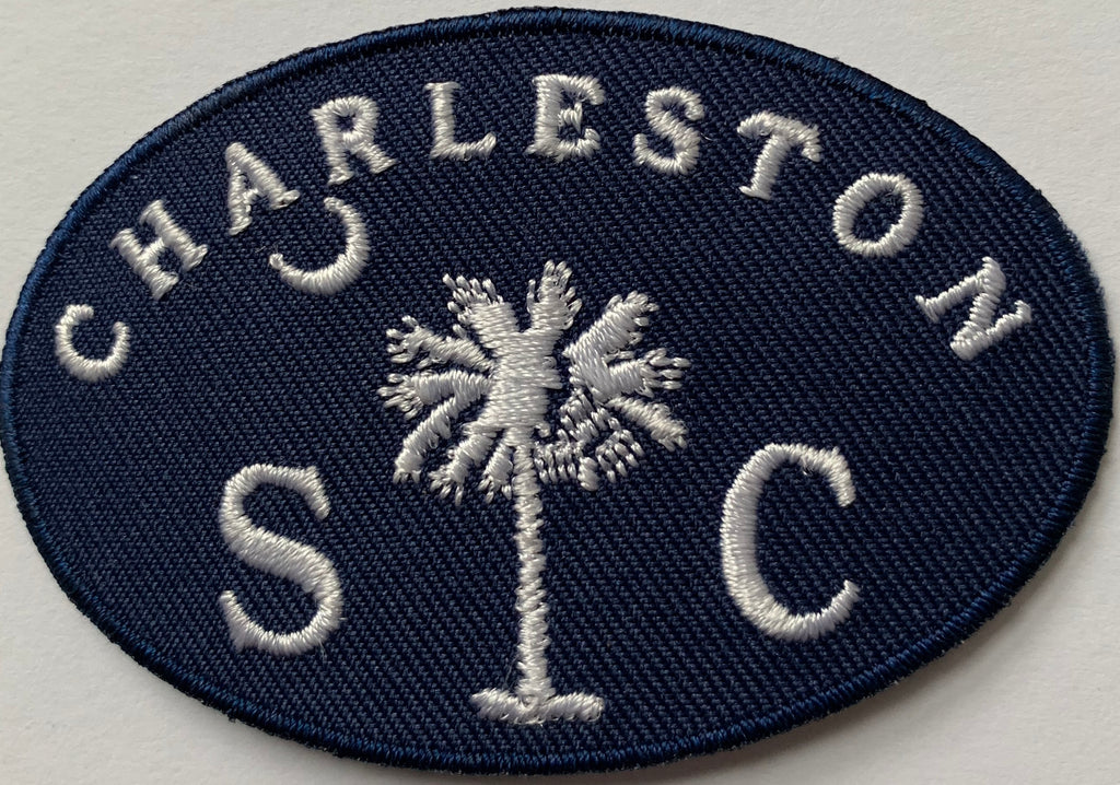Charleston SC with Palm and moon embroidery patch