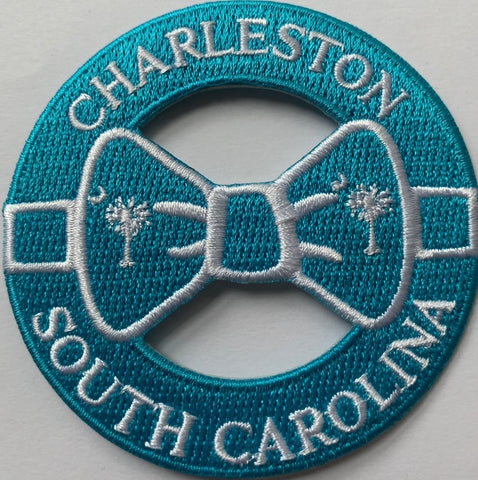 Charleston SC Bow Tie with Palm and moon embroidery patch